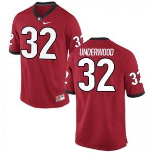 UGA Bulldogs Player Jerseys Ridge Underwood Limited Youth(Kids) - Red
