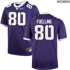 Purple Game Women Texas Christian University Jersey of Robbie Fuelling
