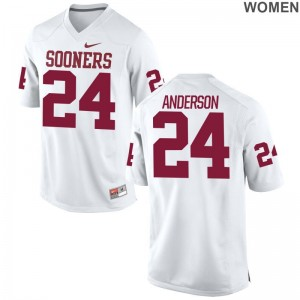Sooners Rodney Anderson Jerseys Game Womens Jerseys - White