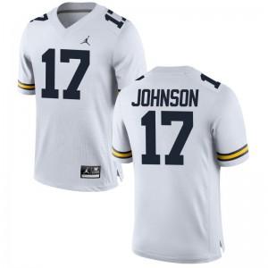 Ron Johnson Jerseys S-3XL Men University of Michigan Game Jordan White
