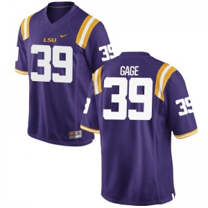 Limited Youth(Kids) Louisiana State Tigers Jerseys Russell Gage - Purple