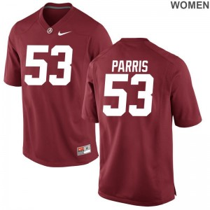 Womens Ryan Parris Jersey College Red Game Bama Jersey