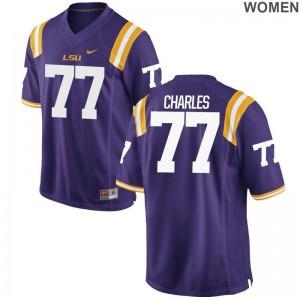 Tigers Saahdiq Charles Limited Womens Purple Player Jerseys
