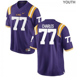 Saahdiq Charles Jersey LSU Purple Limited Youth Jersey