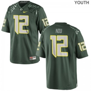 Sampson Niu Ducks Jerseys Youth Green Limited Jerseys