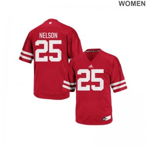 Wisconsin Badgers Scott Nelson Authentic Red Womens NCAA Jerseys