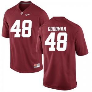 Men Sean Goodman Jersey S-3XL University of Alabama Red Game