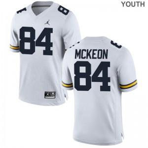 University of Michigan Sean McKeon Limited Jordan White For Kids Player Jersey