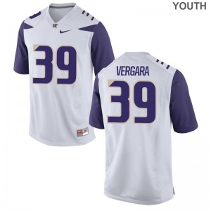 Washington Huskies Sean Vergara Jerseys White Youth(Kids) Limited