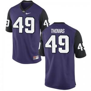Limited Kids TCU Horned Frogs Jerseys Semaj Thomas - Purple Black