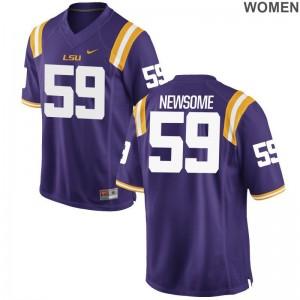 Seth Newsome LSU Tigers Ladies Jersey Purple College Limited Jersey