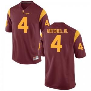 Mens Steven Mitchell Jr. Jerseys White Limited Trojans Jerseys