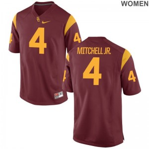 Steven Mitchell Jr. Trojans College Jersey Game For Women Jersey - White