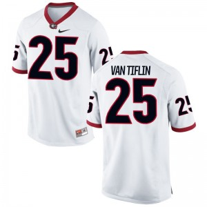 Game Steven Van Tiflin Jersey UGA Bulldogs Mens White