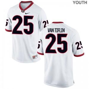 White Steven Van Tiflin Jersey S-XL Georgia Bulldogs Limited For Kids