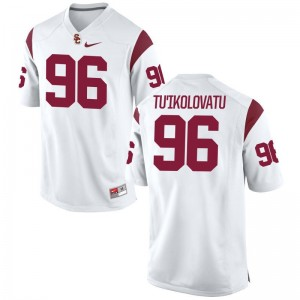 USC Stevie Tu'Ikolovatu Jersey S-3XL White Mens Limited