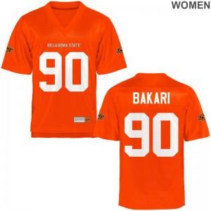 Taaj Bakari OK State NCAA Jersey Orange Ladies Limited