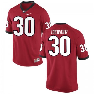 UGA Bulldogs Tae Crowder Jerseys Alumni For Men Limited Red Jerseys