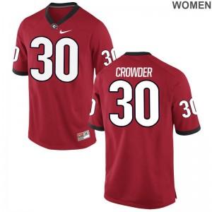 Tae Crowder UGA Bulldogs Jerseys S-2XL Limited Red Women