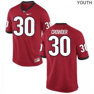 Georgia Bulldogs Tae Crowder High School Jersey Youth Game Jersey - Red