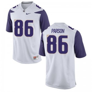 UW Taelon Parson Jerseys Game White Youth Jerseys