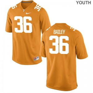 Limited Terrell Bailey Football Jerseys Youth(Kids) Vols - Orange