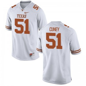 Terrell Cuney University of Texas Player Jersey White For Men Game