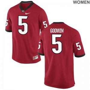 Georgia Bulldogs Terry Godwin Jersey S-2XL Game For Women - Red