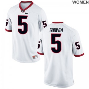 Terry Godwin University of Georgia Ladies Game Football Jerseys - White