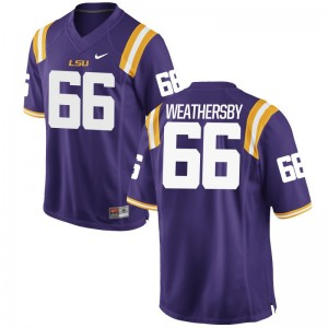 Toby Weathersby Mens Jersey S-3XL Limited Purple LSU Tigers