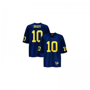 Michigan Wolverines Tom Brady Game For Men NCAA Jersey - Blue