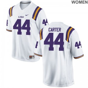 Game White Tory Carter Football Jerseys For Women Louisiana State Tigers