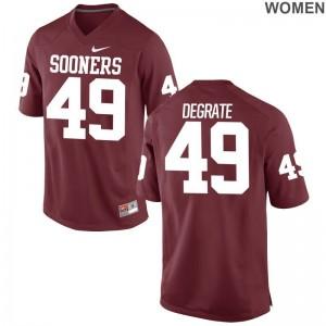Oklahoma Travis DeGrate Women Game Crimson NCAA Jerseys