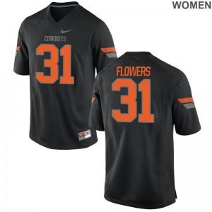 Oklahoma State NCAA Jerseys of Tre Flowers Black Limited Ladies