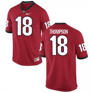Red Trenton Thompson Jersey UGA Bulldogs For Men Game