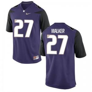 Trevor Walker Jersey University of Washington Purple Game For Men Jersey