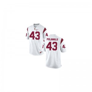 Limited White For Kids Trojans Jersey of Troy Polamalu