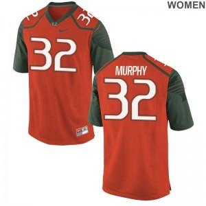 Tyler Murphy Jerseys S-2XL Miami Game Women - Orange