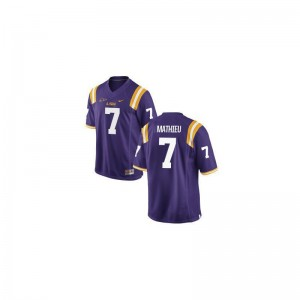 Tyrann Mathieu For Men Purple Jersey S-3XL LSU Limited