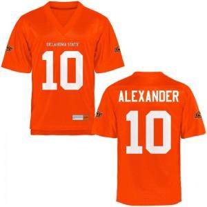 Oklahoma State Cowboys Tyrell Alexander Football Jerseys Orange For Men Game