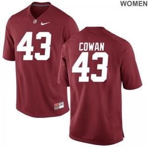 Game VanDarius Cowan Player Jerseys Alabama Crimson Tide Red Ladies
