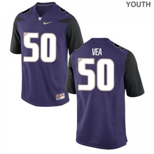 UW Vita Vea Game Youth(Kids) Jersey - Purple