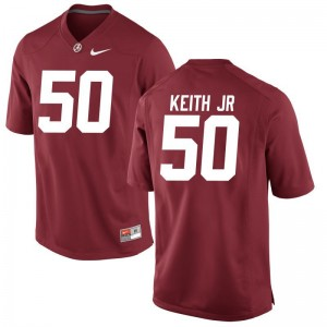 Vohn Keith Jr. Jerseys S-3XL Alabama Limited For Men - Red