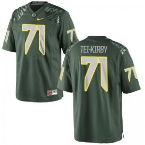 Oregon Football Jersey Wayne Tei-Kirby Women Green Game