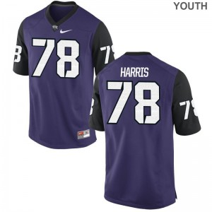 Wes Harris For Kids Jersey Limited Horned Frogs - Purple Black