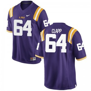 William Clapp Louisiana State Tigers Player Jerseys For Men Game Jerseys - Purple