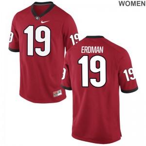 Georgia Women Red Limited Willie Erdman Jerseys S-2XL