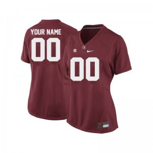 Bama High School Customized Jersey Red Limited Womens
