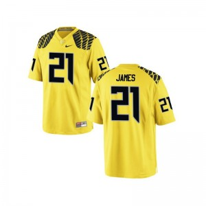 LaMichael James Ducks College Jersey Womens 21 Lamichael James Yellow Limited