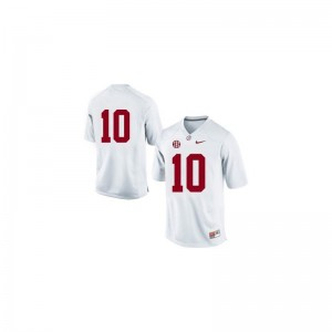 Bama AJ McCarron Jersey #10 White Limited Ladies